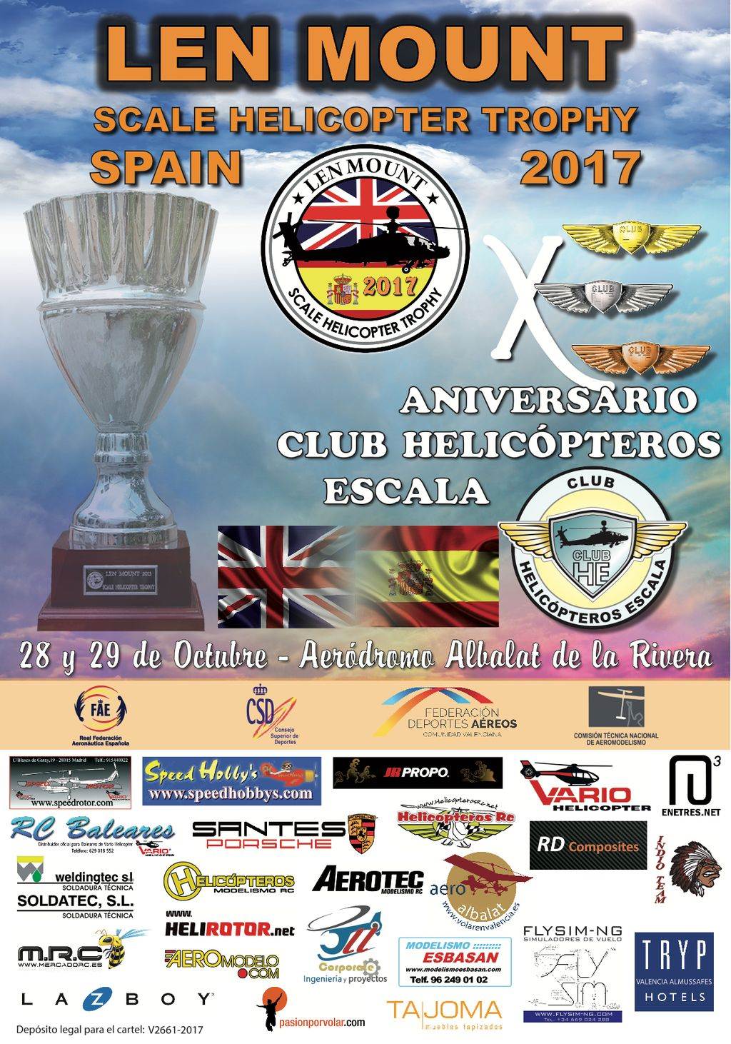 Cartel LEN Mount Sacale Helicopter Trophy Octubre 2017